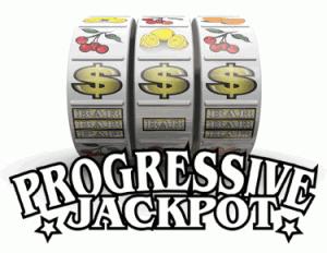 Immagine di rulli di slot machine progressiva.